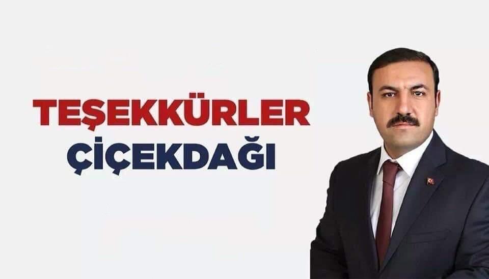 """Başkan Hakanoğlu; """"Teşekkürler Çiçekdağı!"""""""